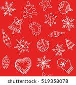 christmas red background....   Shutterstock .eps vector #519358078
