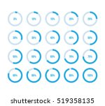 colorful pie charts. ux percent ... | Shutterstock .eps vector #519358135
