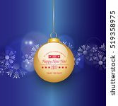 happy holidays background  new... | Shutterstock .eps vector #519358975