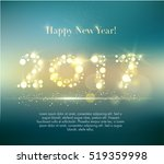 vector 2017 happy new year... | Shutterstock .eps vector #519359998