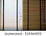window blinds wood. | Shutterstock . vector #519364552