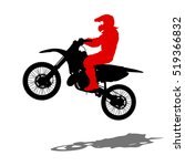 silhouettes rider participates... | Shutterstock . vector #519366832
