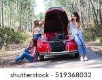 friends on a roadtrip having a... | Shutterstock . vector #519368032