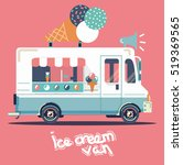 vector van illustration retro... | Shutterstock .eps vector #519369565