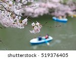 tourists rowing boats merrily... | Shutterstock . vector #519376405