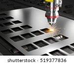 laser cutting machine 3d... | Shutterstock . vector #519377836