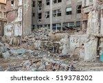 Closeup Of Building Demolition...