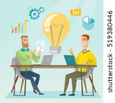 two businessmen working on a... | Shutterstock .eps vector #519380446