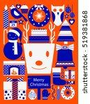 vector illustration of merry... | Shutterstock .eps vector #519381868