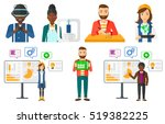 engineer making a model with a... | Shutterstock .eps vector #519382225
