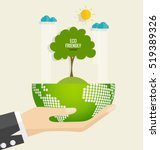 eco friendly. ecology concept... | Shutterstock .eps vector #519389326