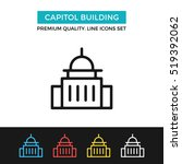 Stock vector vector capitol building icon government concept premium quality graphic design modern signs 519392062