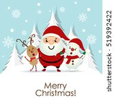 christmas greeting card with... | Shutterstock .eps vector #519392422