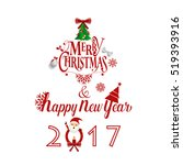 merry christmas and happy new... | Shutterstock .eps vector #519393916