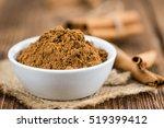 portion of fresh made cinnamon  ... | Shutterstock . vector #519399412