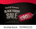 black friday sale banner | Shutterstock .eps vector #519401215