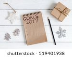 notebook and goals for new year ... | Shutterstock . vector #519401938