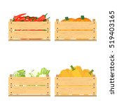 vector crate with fresh fruits... | Shutterstock .eps vector #519403165