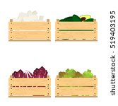 vector crate with fresh fruits... | Shutterstock .eps vector #519403195