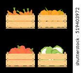 vector crate with fresh fruits... | Shutterstock .eps vector #519403972