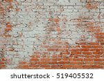 Aged Red Clay Brick Wall Old...