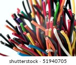 Various Electric Wires In Many...