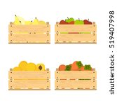 vector crate with fresh fruits. ... | Shutterstock .eps vector #519407998