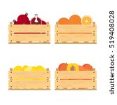 vector crate with fresh fruits. ... | Shutterstock .eps vector #519408028