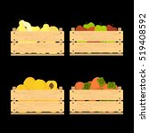 vector crate with fresh fruits. ...   Shutterstock .eps vector #519408592