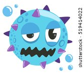 virus cartoon character. cute...   Shutterstock .eps vector #519414022