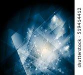 abstract blue dna molecular... | Shutterstock .eps vector #519414412