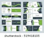 business card templates.... | Shutterstock .eps vector #519418105