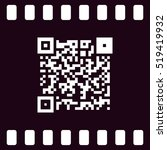 simple icon qr code stock... | Shutterstock .eps vector #519419932