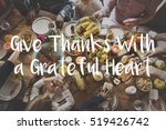 thanksgiving blessing... | Shutterstock . vector #519426742