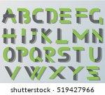 vector origami alphabet style...