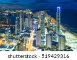 aerial view of skyline with... | Shutterstock . vector #519429316