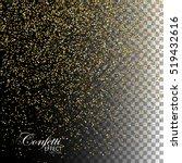 golden confetti glitters.... | Shutterstock .eps vector #519432616