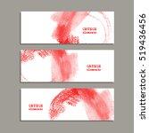 red ink round stroke on white... | Shutterstock .eps vector #519436456
