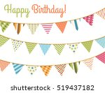 colorful bunting for happy... | Shutterstock .eps vector #519437182