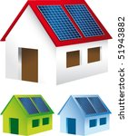 homes with solar panels on the... | Shutterstock .eps vector #51943882