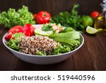 healthy salad bowl with quinoa  ... | Shutterstock . vector #519440596