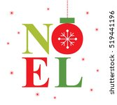 noel with red and green color | Shutterstock .eps vector #519441196