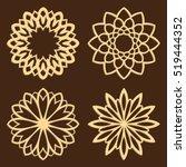 diy laser cutting patterns.... | Shutterstock .eps vector #519444352