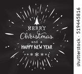 christmas design on a grunge... | Shutterstock .eps vector #519445816