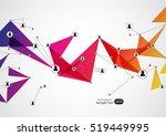 network concept design... | Shutterstock .eps vector #519449995