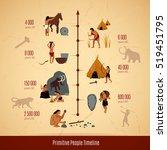 prehistoric stone age caveman... | Shutterstock . vector #519451795