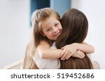 cute girl with mother at home | Shutterstock . vector #519452686