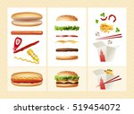 poster with the ingredients for ... | Shutterstock .eps vector #519454072