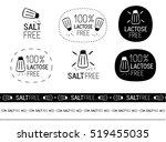 vector salt free sign set | Shutterstock .eps vector #519455035