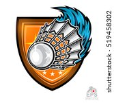 shuttlecock with wind trail in... | Shutterstock .eps vector #519458302